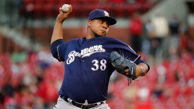 Pitcher Wily Peralta has been on a roller-coaster ride since joining the Brewers.