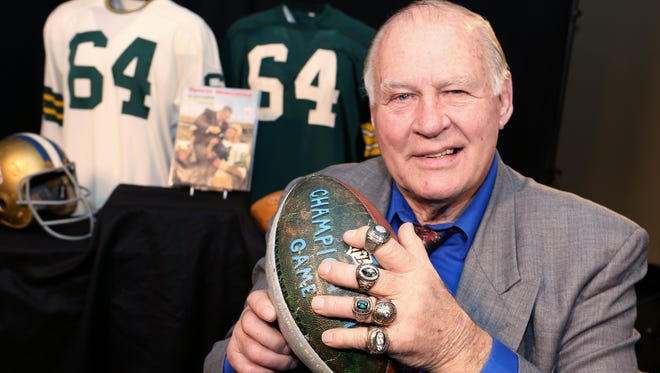 Jerry Kramer's Super Bowl I ring will be one of 60 items up for auction next month.