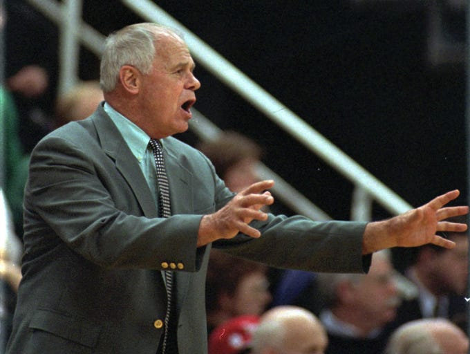 Former Michigan State basketball coach Jud Heathcote