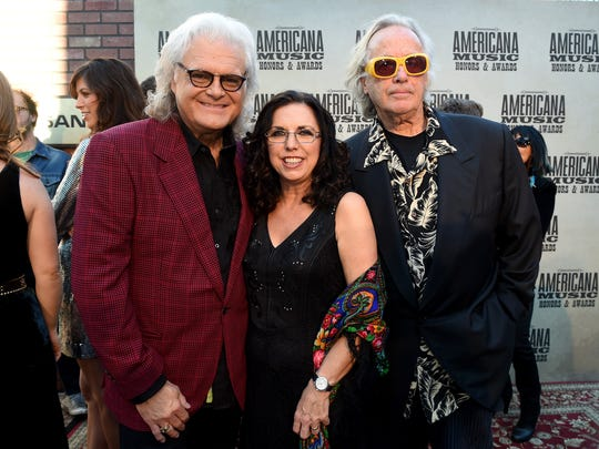 Ricky Skaggs, Sharon White and Ry Cooder attend the 14th annual Americana Music Association Honors and Awards Show at the Ryman Auditorium in September.