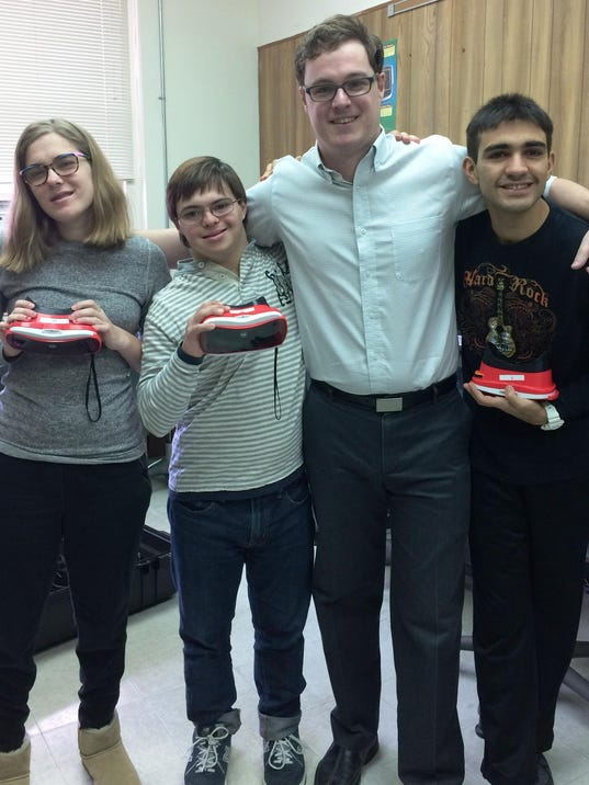 Dan Erhardt with students