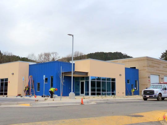 A new headquarters for the county' emergency medical services was built in the first phase of the hospital project.