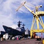 Ingalls Shipyard in Pascagoula, Miss.