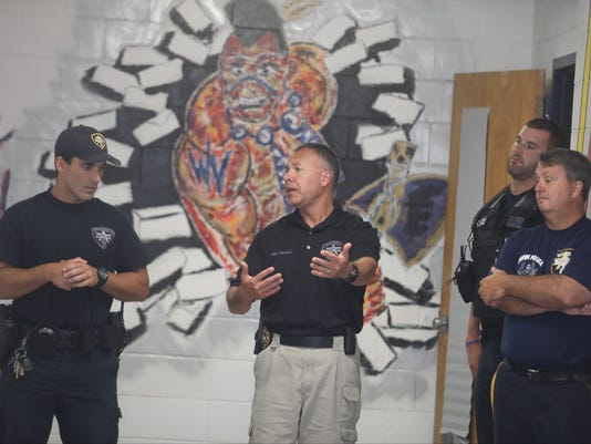 Wayne Twp. Police practiced their tactical strategy at Wayne Valley HS.