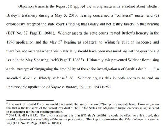 This is a screenshot of the footnote in Ryan Widmer's