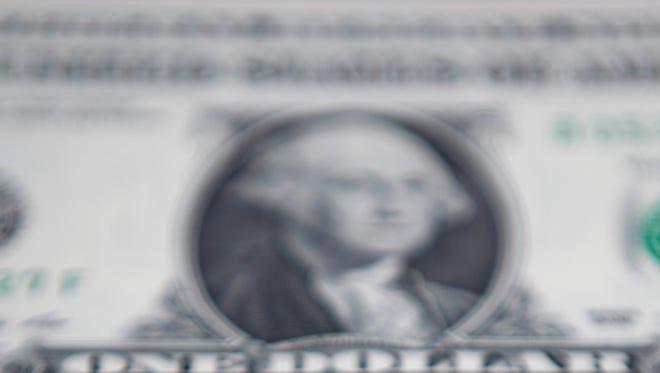 U.S. one dollar banknotes