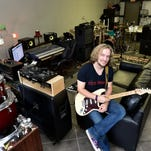 Musician Chad Wesley's Ridgeland office houses his screen printing, sound production and independent label businesses.