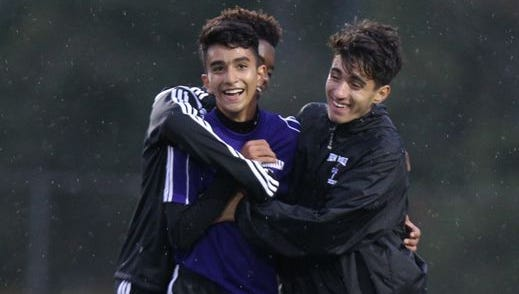 New Rochelle boys' soccer won 3-1 at Clarkstown South Sept. 30, 2015.