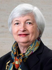 Janet Yellen is chairwoman of the board of governors for the Federal Reserve.