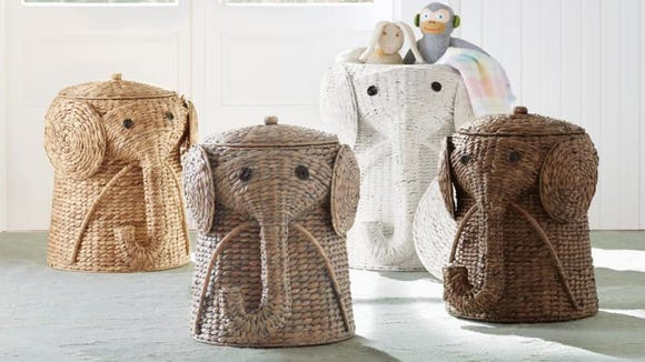 These elephant hampers are so cute your kids will look forward to chores.