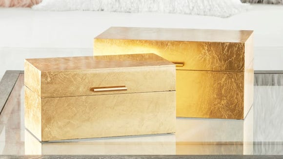 These storage boxes are the fastest way to elevate your room to glam status.