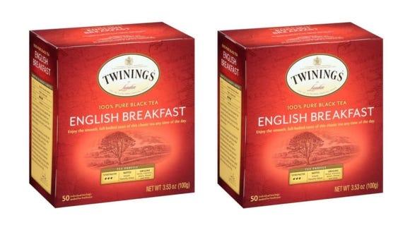 I drink Twinings English breakfast tea in place of coffee.
