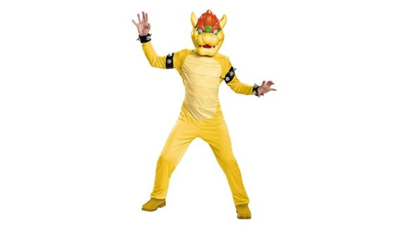 Your kid will feel like a King Koopa in this Bowser getup.