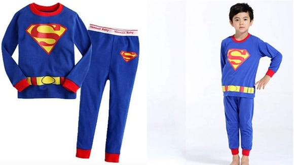 A pair of superhero pjs are an option for sensitive kids.