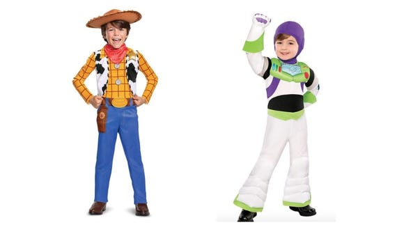 Giddyup to infinity and beyond with Woody and Buzz Lightyear.