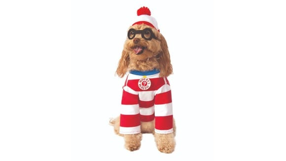 There's no way your dog will get lost in the crowd wearing this storybook disguise.