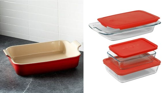 Casserole dishes let you prepare in advance of your party, then pop dishes in the oven.