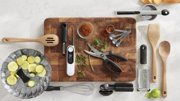 This large cutting board can be used to cut, serve, or take Insta-worthy food pics.