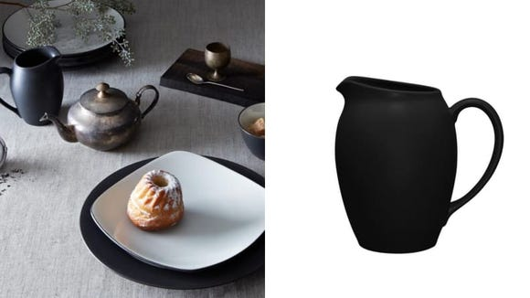 This graphite pitcher comes in a variety of colors, ideal for entertainers of all tastes.
