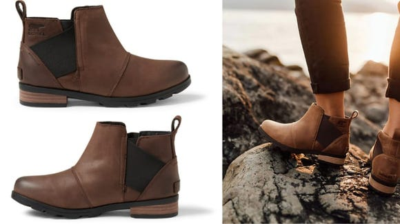 These gorgeous waterproof boots are great for hikers.