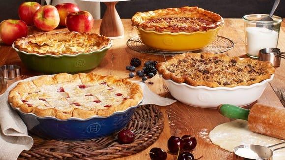 Our favorite pie dish, the Emile Henry, baked beautiful pies in our testing.