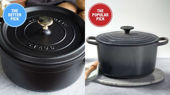 The Staub looks just as nice and works even better.
