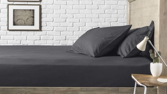 Crisp percale sheets are perfect for summer.