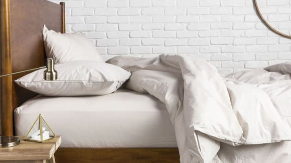 This percale duvet cover is perfect for summertime.