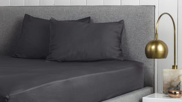 These sateen sheets are soft and smooth to climb into at night.