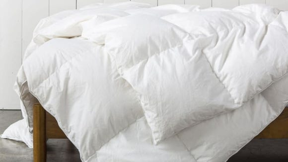 This down comforter will keep you toasty warm all winter.