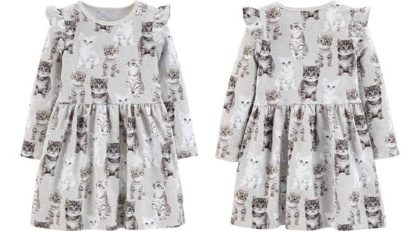 I want to pet each cat on this dress.