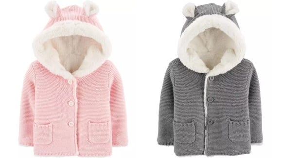 These cardigans are so soft you'll want to pet the baby like a small cat.