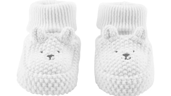 These tiny booties are the epitome of adorable baby clothes.
