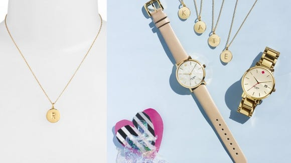 Monogrammed jewelry is in.