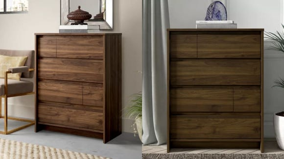 These wooden drawers look gorgeous in any space.
