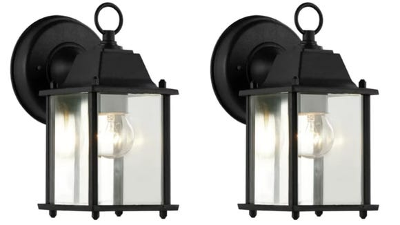 This outdoor wall lantern is both adorable and functional.