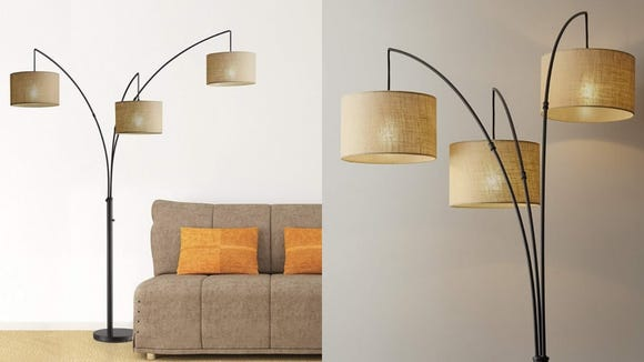 The adjustable arms on this lamp make it a great fit for unique spaces.