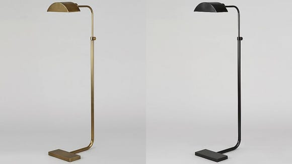This floor lamp comes with a curved base, making it great for sliding under furniture.