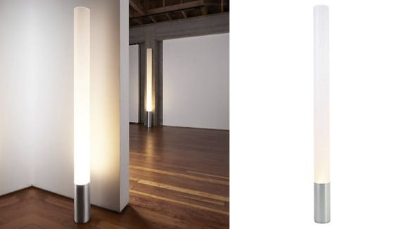 This unique floor lamp could double as a standalone living room decoration.