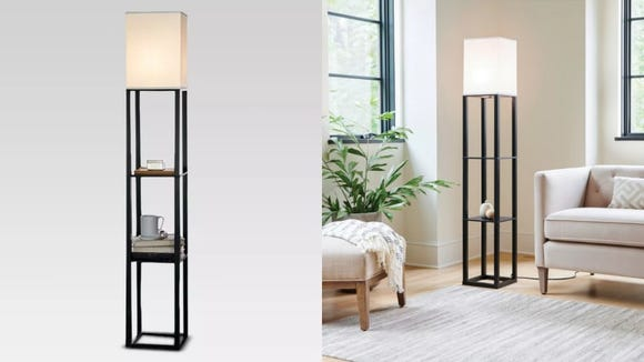 A lamp that comes with built-in shelves? Sold.