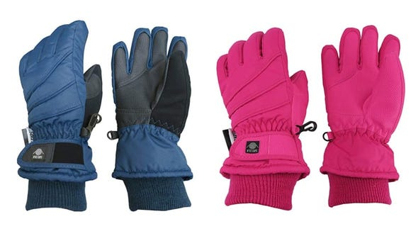 Any kid will be happy with these warm, colorful gloves.