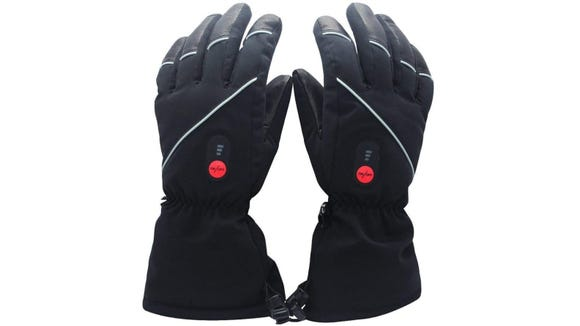Battery-powered gloves will keep your fingers toasty.