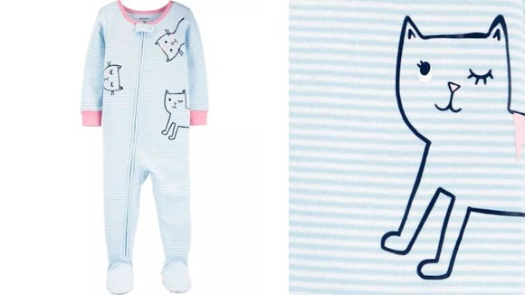 The only thing cuter would be a child in these pajamas holding a kitten.