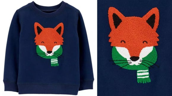 This fox sweater is great for winter.