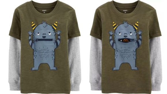 You can literally open the mouth on this monster shirt.