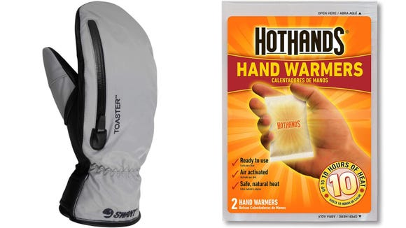 Mittens and hand warmers prevent your fingers from getting numb.