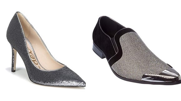 Strut your stuff in these sparkly kicks.