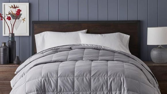 This fluffy comforter is highly rated on the Home Depot site.