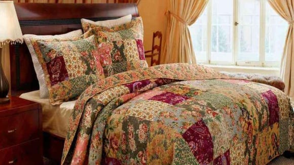 This multicolor comforter is big enough for nearly any mattress setup.