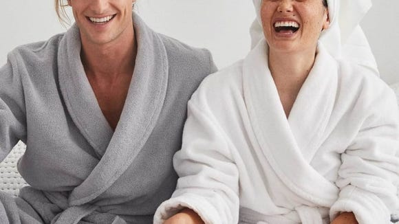 These plush robes are made from 100% Turkish cotton.